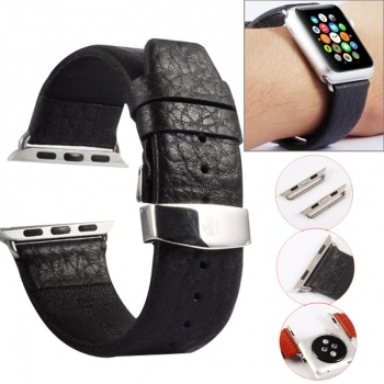 Correa Kakapi Buffalo de piel genuina con conectores para Apple Watch 42mm