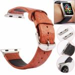 Correa Kakapi Buffalo de piel genuina con doble bucle y conectores para Apple Watch 38mm