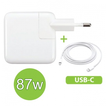 Cargador USB-C MacBook 87W ¡con cable incluido!